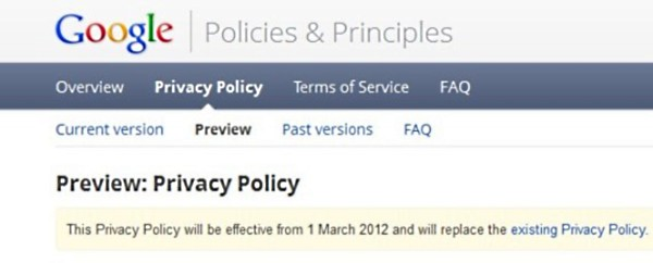 Google's new privacy policy not in compliance with EU law