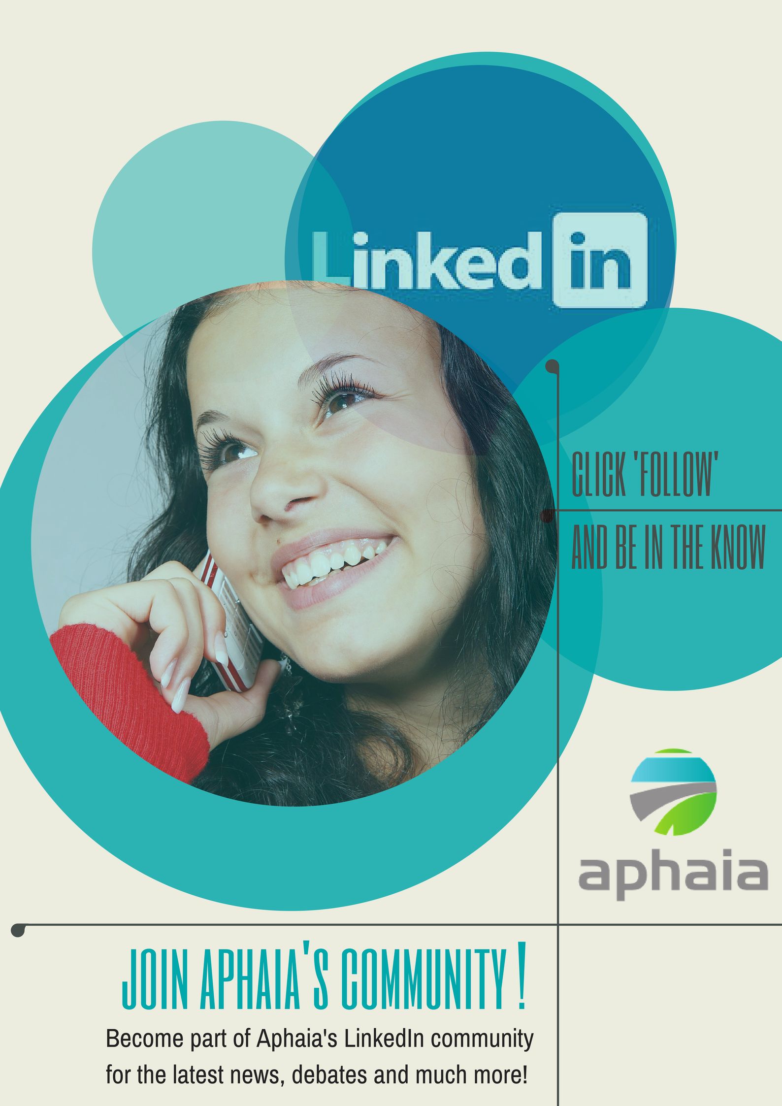 Follow Aphaia LinkedIn pages