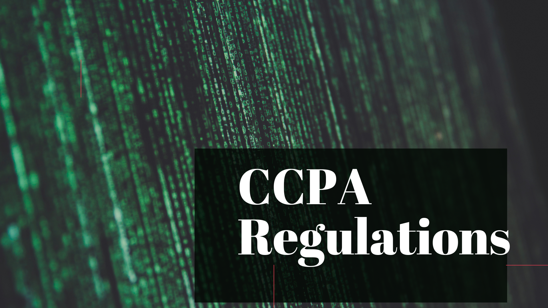 CCPA Regulations